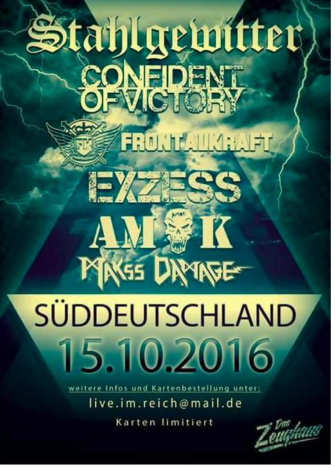 Flyer des B&H Konzertes in Alt St.Johann (SG), 15.10.2016